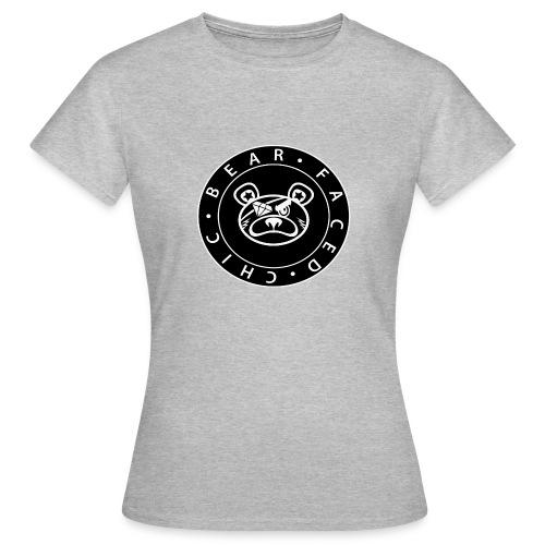 Bear Faced Chic Black and White Logo Varient - Women's T-Shirt