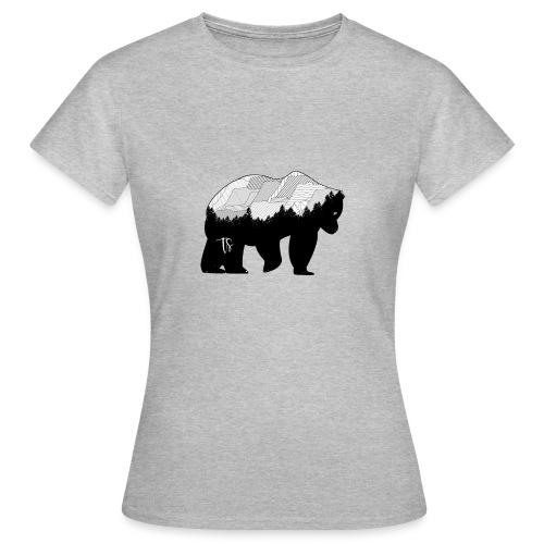 Geometric Mountain Bear - Maglietta da donna
