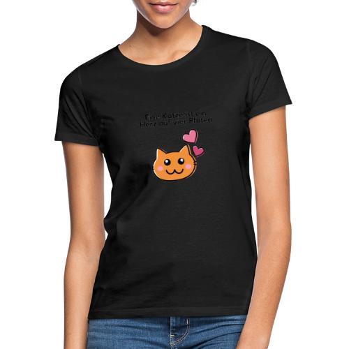 Vier Pfoten - Frauen T-Shirt