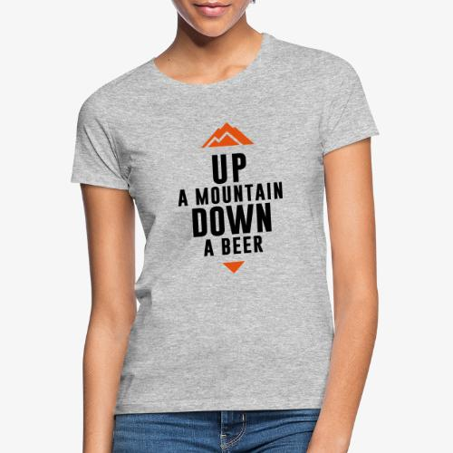 UP Mountain Down Beer - T-shirt Femme