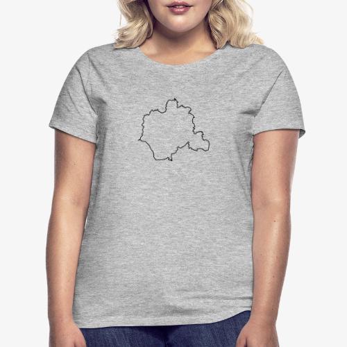 Kontur des Kreises Lippe - Frauen T-Shirt