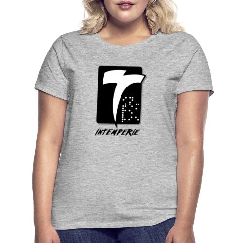 intemperie logo final fondo blanco - Camiseta mujer