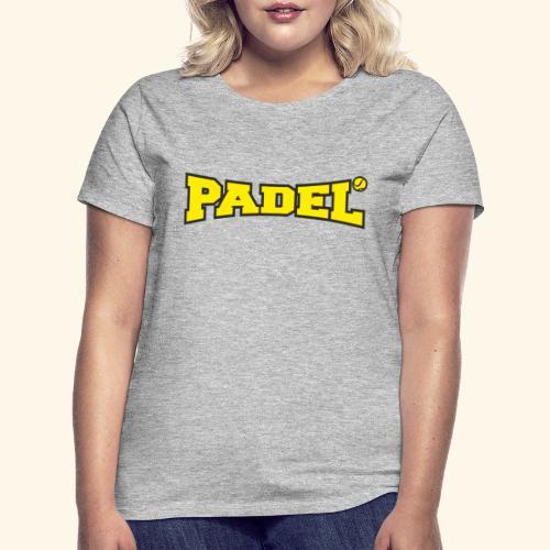 padel amarillo y negro - Camiseta mujer