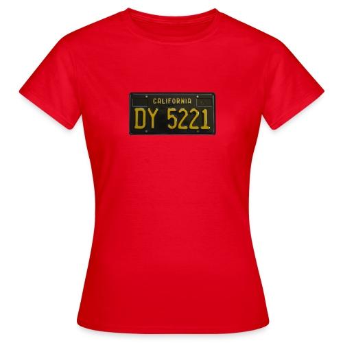 CALIFORNIA BLACK LICENCE PLATE - Women's T-Shirt