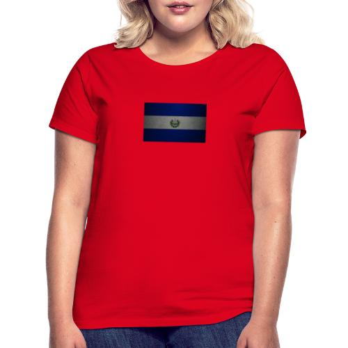 thumb2 flag of el salvador 4k leather texture nort - Camiseta mujer