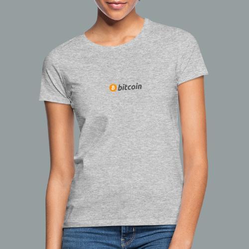 Bitcoin Logo #BTC - Camiseta mujer