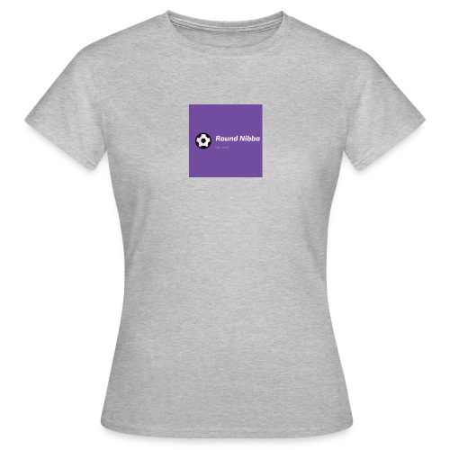 Purple with Ball Icon Soccer Logo - Dame-T-shirt