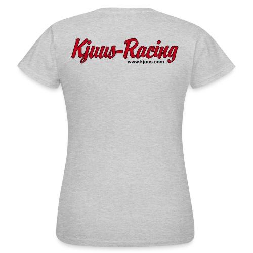 Kjuus-Racing - T-skjorte for kvinner