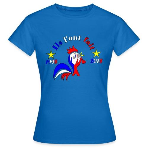 champion du monde 2018 France coq 2 étoiles - T-shirt Femme