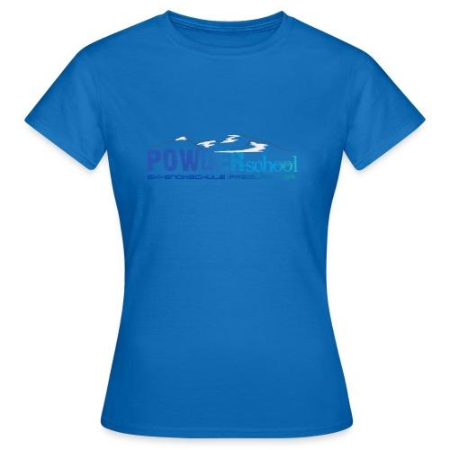 POWDERschool T-Shirt blau - Frauen T-Shirt