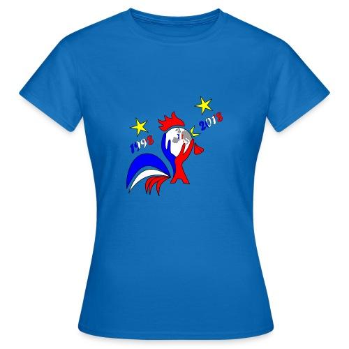 coupe du monde France 2018 football les bleus - T-shirt Femme