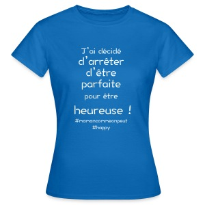 t-shirt_happy_white - T-shirt Femme