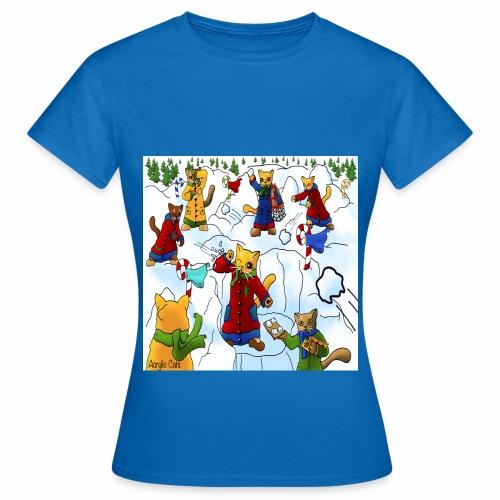 Christmas Snowball Cats 2 - Women's T-Shirt