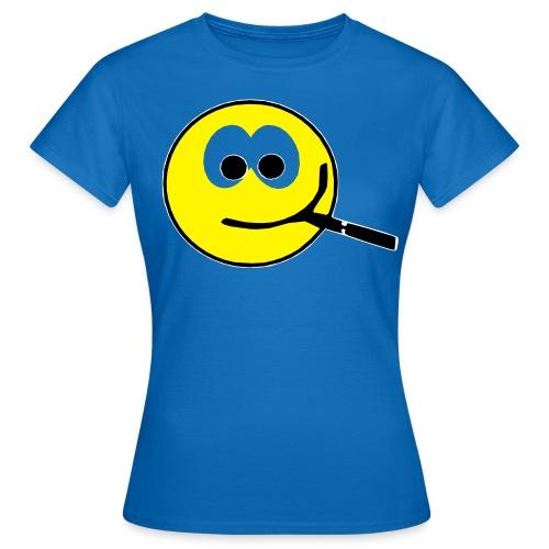 Smilie dampft - Frauen T-Shirt