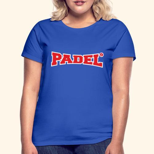 padel rojo y blanco - Camiseta mujer