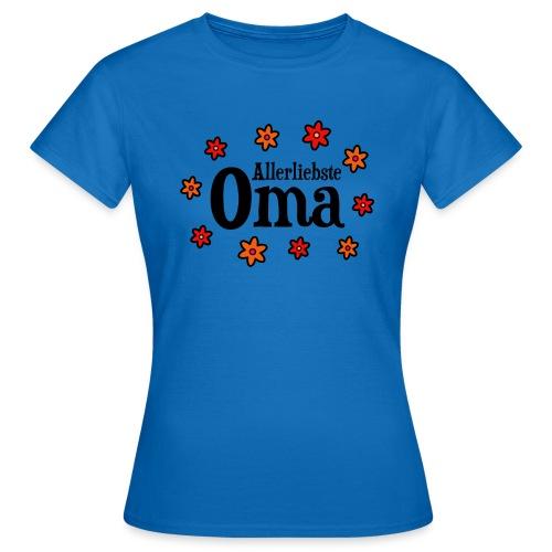 Allerliebste Oma Blumen Geschenk - Frauen T-Shirt
