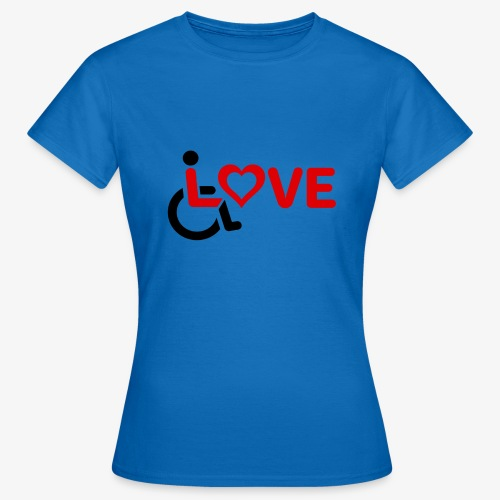 > Rolstoel liefde, rolstoelgebruiker, roller - Vrouwen T-shirt
