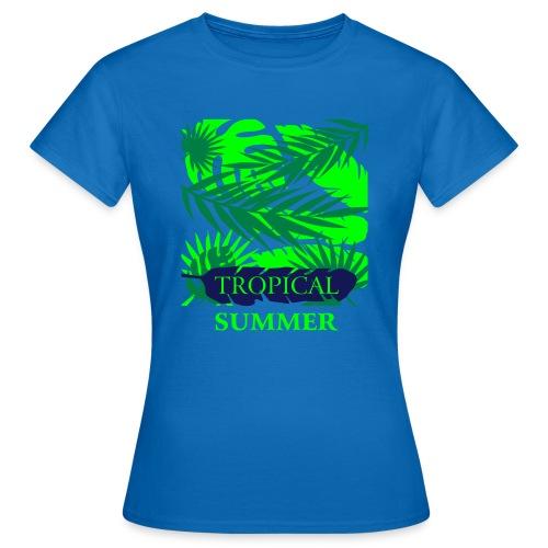 Tropical Summer Leaf - Frauen T-Shirt