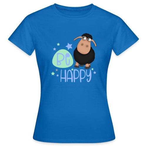 Schwarzes Schaf - Be happy Schaf - Glücksbringer - Frauen T-Shirt