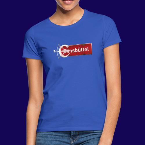 Hamburg- Eimsbüttel: Ortsschild mit Tattoo Initial - Frauen T-Shirt