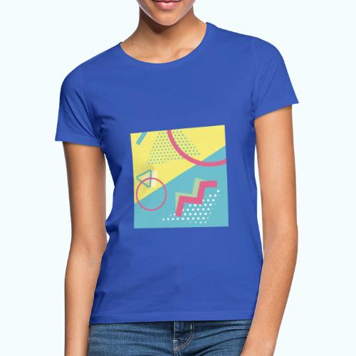 Pastel turquoise geometry - Women's T-Shirt