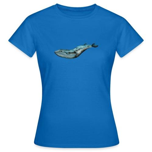 Ręcznie malowany wieloryb ocean - Koszulka damska