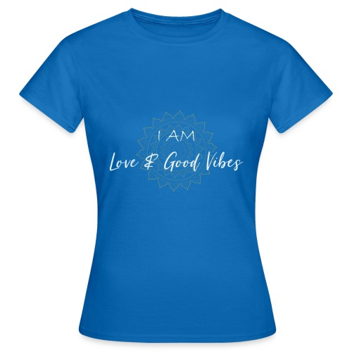 I am love and good vibes white gold - Frauen T-Shirt