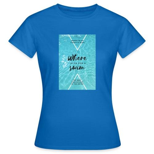 Schwimm design - Frauen T-Shirt
