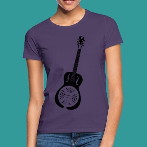 Blues Slide Guitar Stencil - Women's T-Shirt