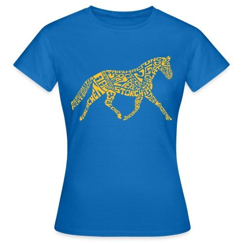 Körpertraining Logo gelb - Frauen T-Shirt