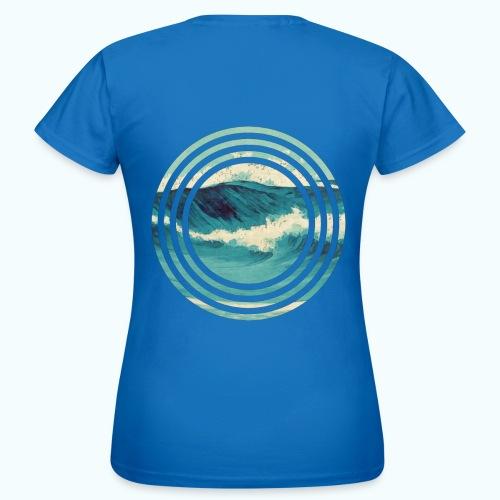 Wave vintage watercolor - Women's T-Shirt
