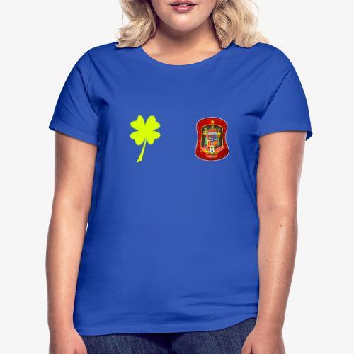 Trébol de la suerte / Escudo rojo / Espalda - Camiseta mujer