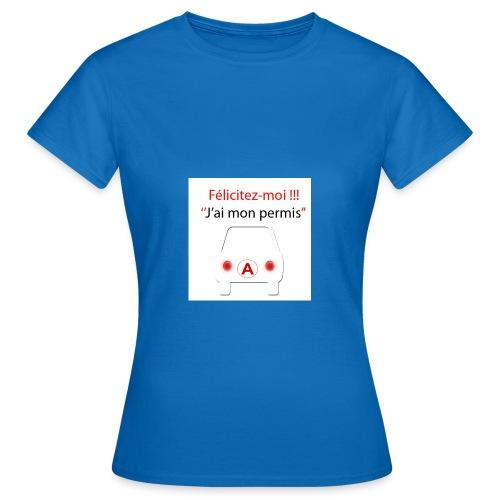 PermisA 800x800 - T-shirt Femme