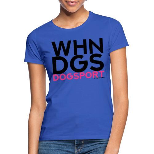 WHNDGS Hundesport Agility Geschenkidee Markenshirt - Frauen T-Shirt