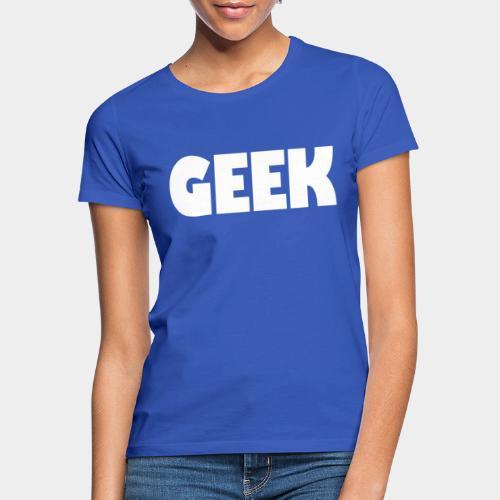 GEEK Text Logo White - Women's T-Shirt