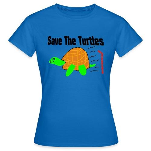 save the turtles - T-skjorte for kvinner