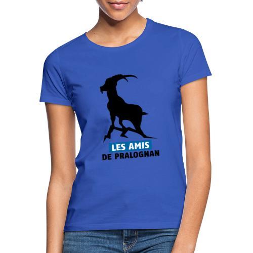Logo Les Amis de Pralo grand noir bouquetin - T-shirt Femme