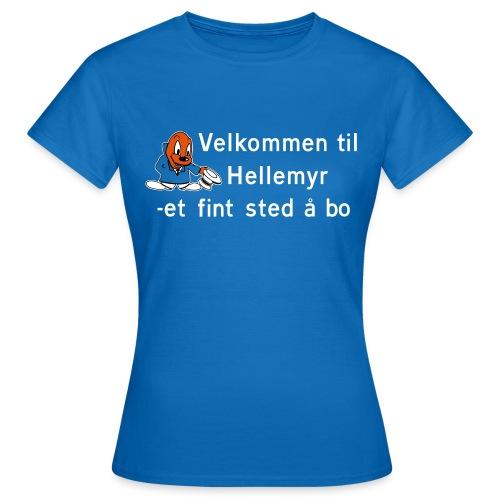Velkommen til Hellemyr - T-skjorte for kvinner