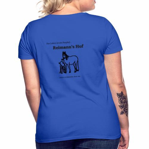 Reimann's Hof - Connemarastute mit Fohlen - Frauen T-Shirt