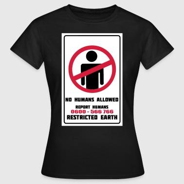 Ei Ihmiset sallittuja, raportti Ihmiset erovirta - Naisten t-paita