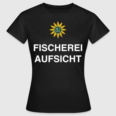 Angel Designs Fischerei Aufsicht RAHMENLOS Gesche - Frauen T-Shirt
