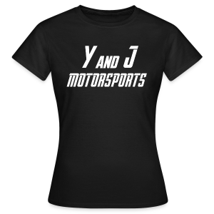 Y and J Motorsports Logo Weiß - Frauen T-Shirt