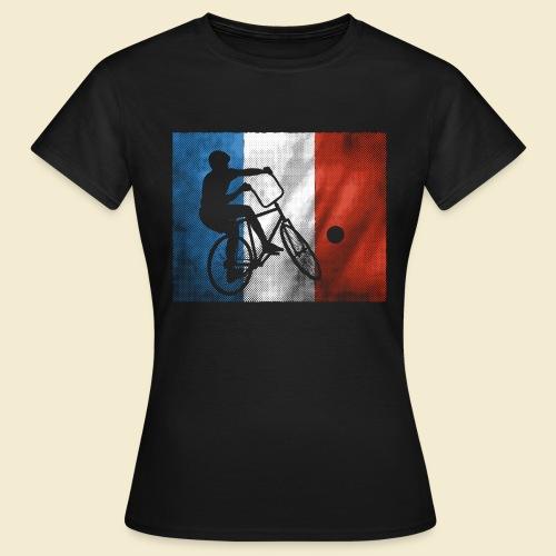 Radball   Flagge Frankreich - Frauen T-Shirt