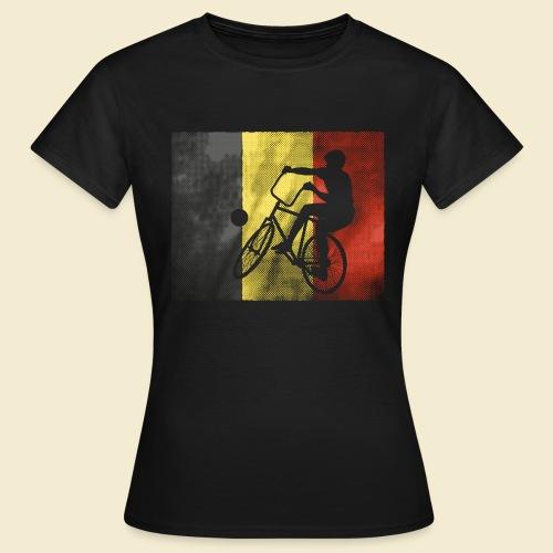Radball   Flagge Belgien - Frauen T-Shirt