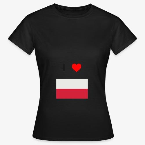 I LOVE POLSKA - Koszulka damska