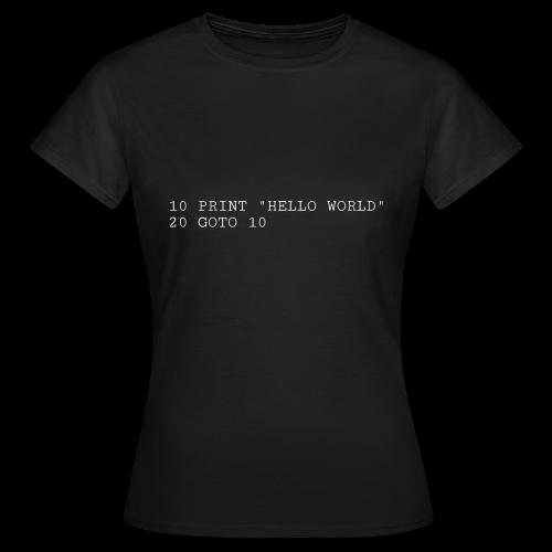 HELLO WORLD - Commodore64 BASIC - Dame-T-shirt