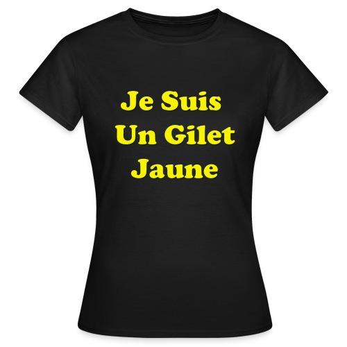 Gilet Jaune - T-shirt Femme