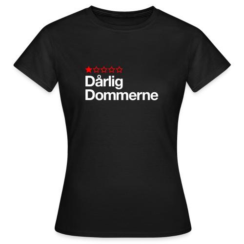 Dårligdommerne Hvid tekst - Dame-T-shirt