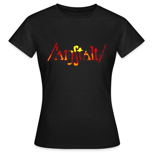 logo gerastert (flamme) - Frauen T-Shirt