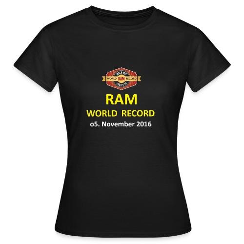 RWR gelb mit Datum (weiß) - Frauen T-Shirt